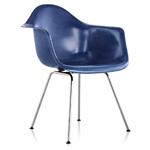 eames® molded fiberglass armchair with 4 leg base  -