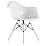 eames® molded fiberglass armchair with dowel base  -