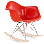 eames® molded fiberglass armchair with rocker base