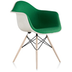 eames® upholstered armchair with dowel base  -