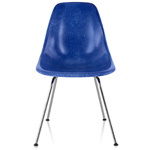 eames® molded fiberglass side chair with 4 leg base  -