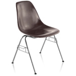 eames® molded fiberglass side chair with stacking base  -