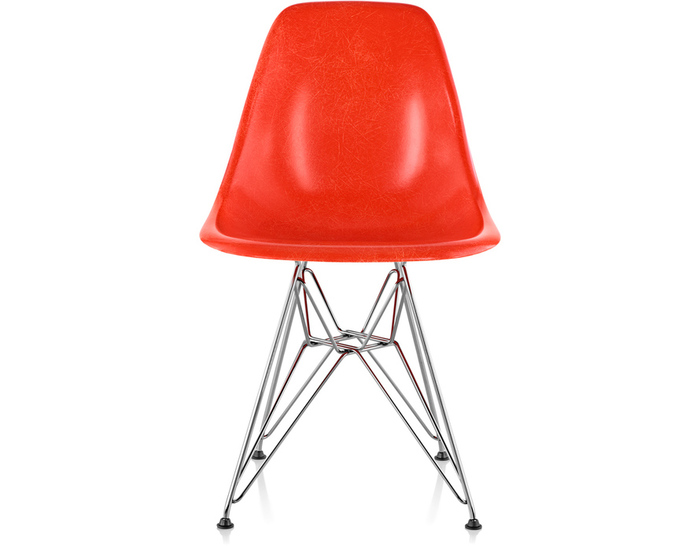 Eames Molded Fiberglass Side Chair With Wire Base hivemoderncom