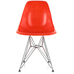 eames® molded fiberglass side chair with wire base  -
