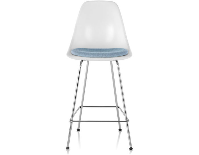eames® molded fiberglass stool with seat pad