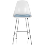 eames® molded fiberglass stool with seat pad  -