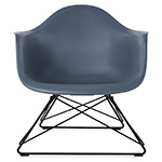 eames® molded plastic armchair with low wire base  -