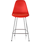 eames® molded plastic stool with seat pad  -
