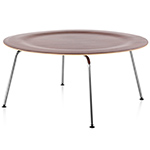 eames molded plywood coffee table with metal base  -
