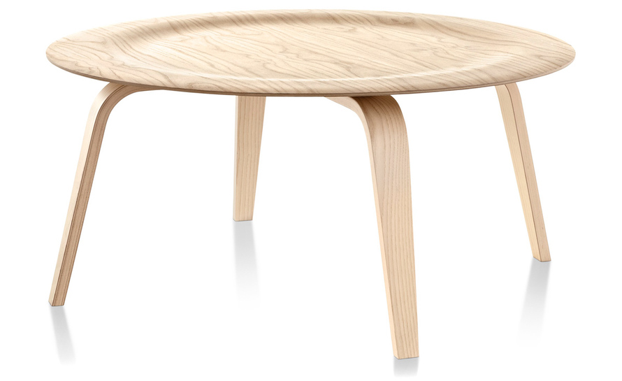 Eames Molded Plywood Coffee Table With Wood Base