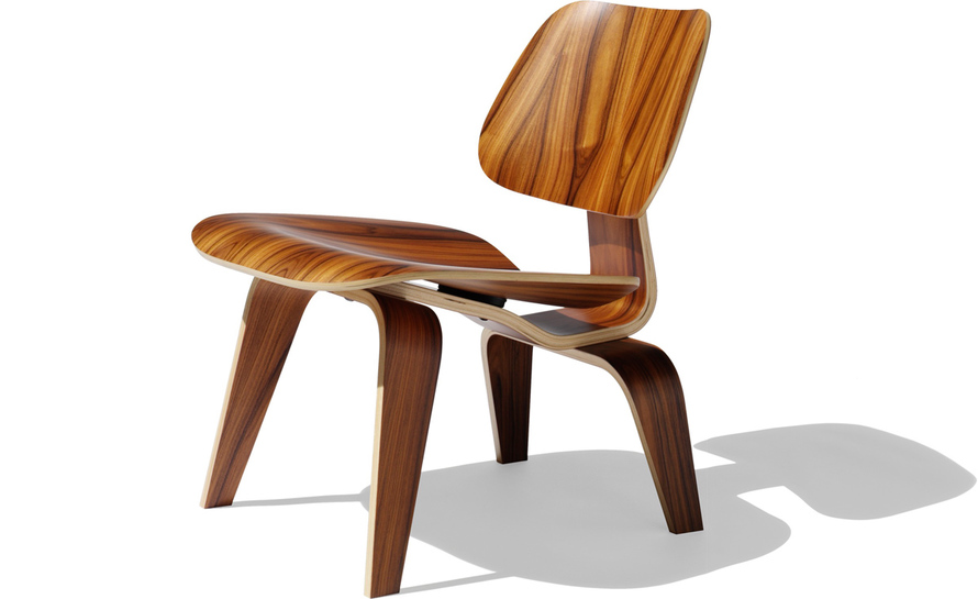 eames® molded plywood lounge chair lcw