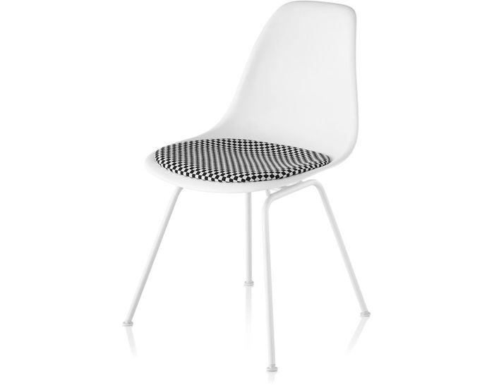 Eames 4 Leg Base Side Chair With Seat Pad