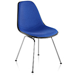 eames® upholstered side chair with 4 leg base