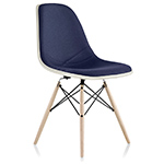 eames® upholstered side chair with dowel base