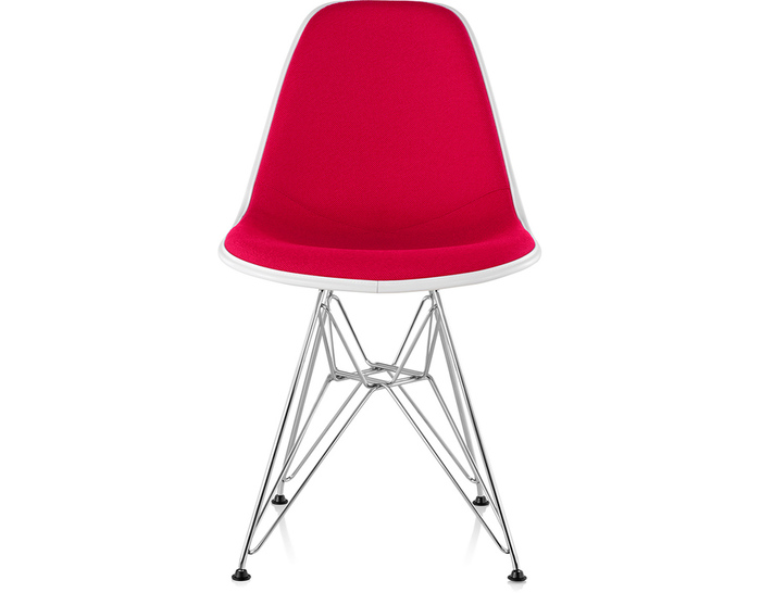 eames® upholstered side chair with wire base