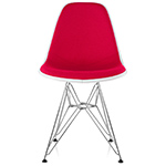 eames® upholstered side chair with wire base  -