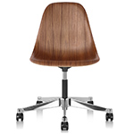 eames® molded wood side chair with task base  -