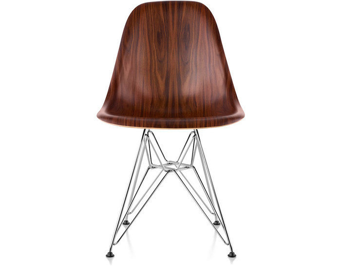 Eames® Molded Wood Side Chair With Wire Base