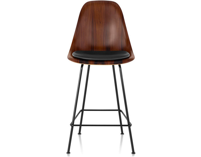 eames® molded wood stool with seat pad