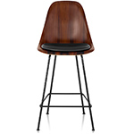 eames wood stool with seat pad - Eames - Herman Miller