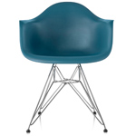 eames® molded plastic armchair with wire base  -
