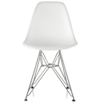 eames® molded plastic side chair with wire base  -