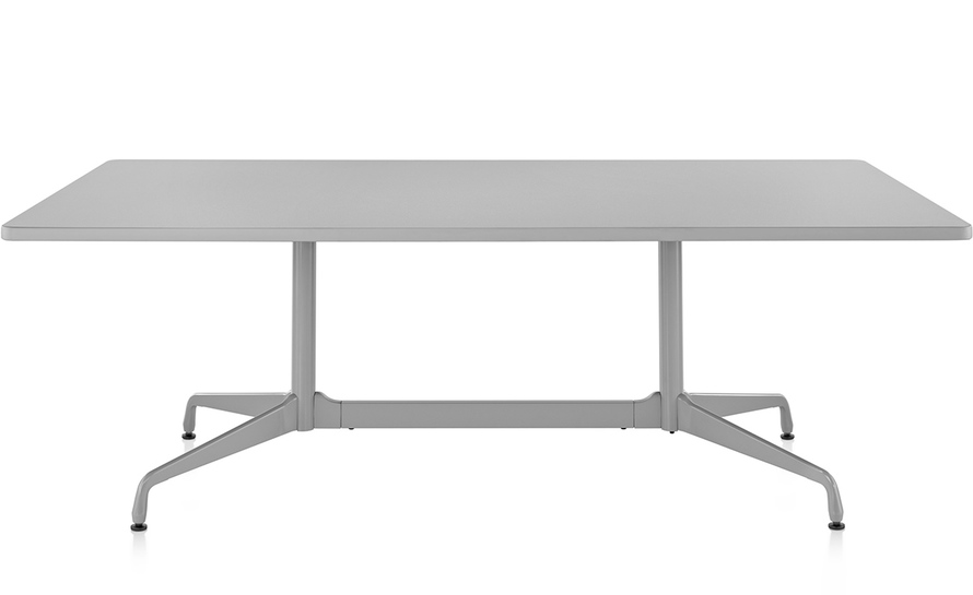 eames rectangular table with laminate top & edge