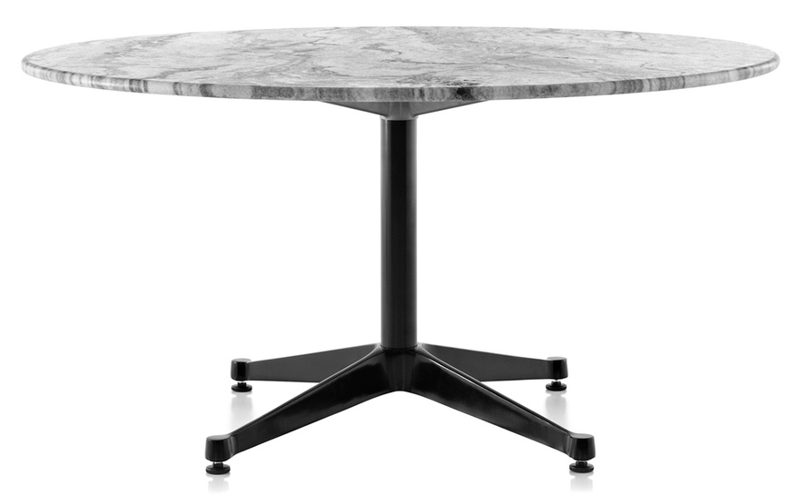 eames round contract base outdoor table