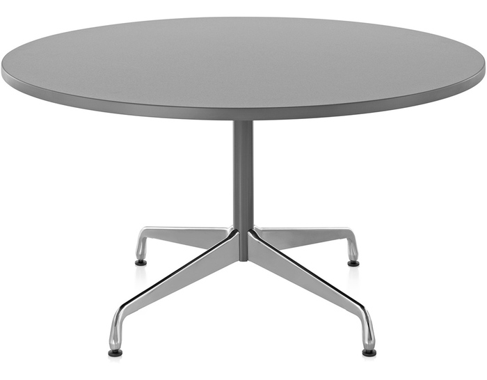 eames round table with laminate top & edge