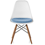 eames® dowel base side chair with seat pad  -