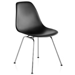 eames® molded plastic side chair with 4 leg base  -