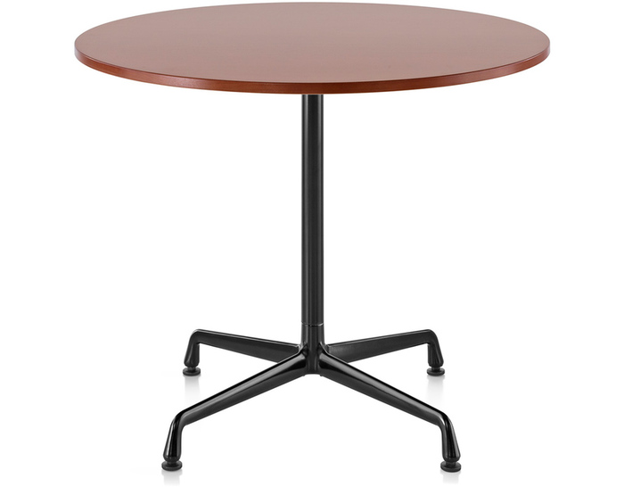 eames small table with laminate top/vinyl edge