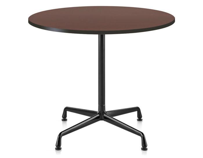 eames small table with veneer top & vinyl edge