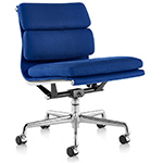 eames&reg soft pad group management chair with no arms  -