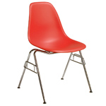 eames® molded plastic side chair with stacking base  -