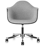 eames® upholstered armchair with task base  -