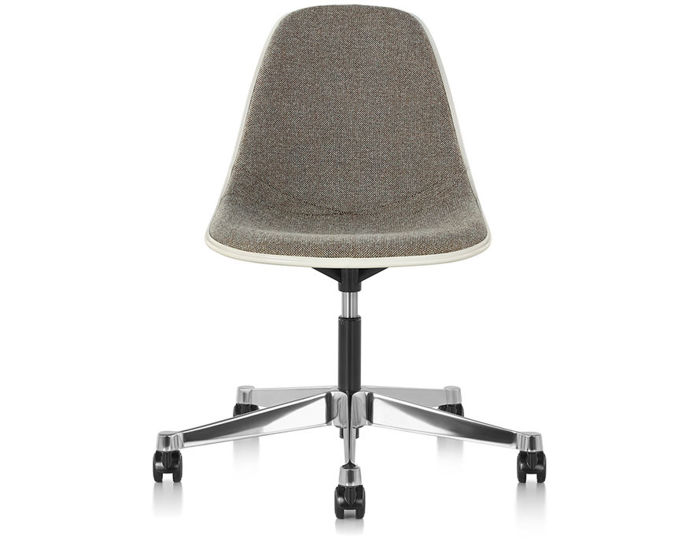 eames® upholstered side chair with task base