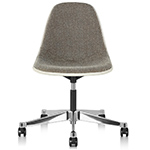 eames® upholstered side chair with task base  -