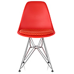 eames® wire base side chair with seat pad  -