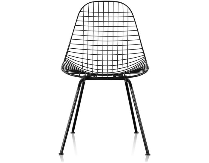eames® wire chair with 4 leg base