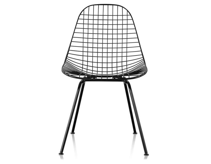 eames® wire chair with 4 leg base outdoor