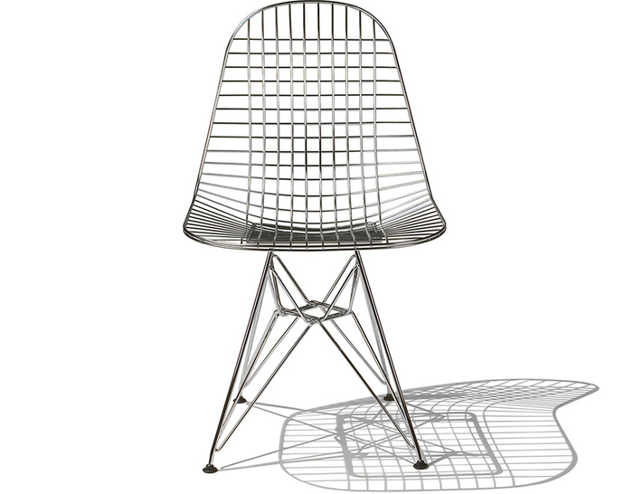 eames® wire chair with wire base