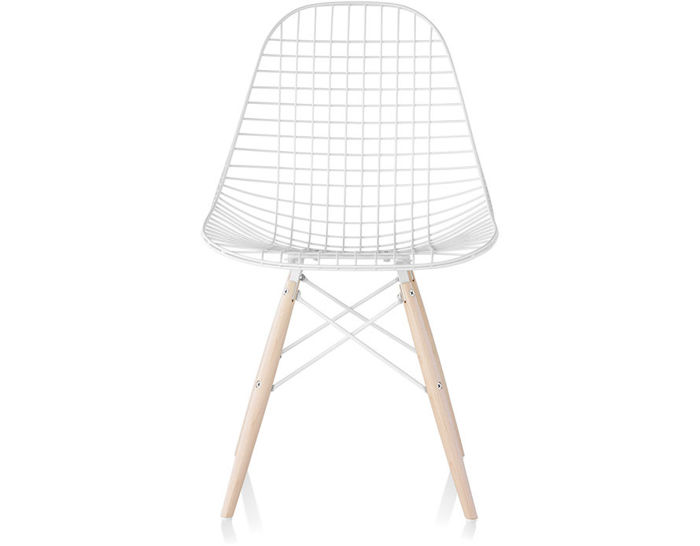 eames® wire chair with dowel base
