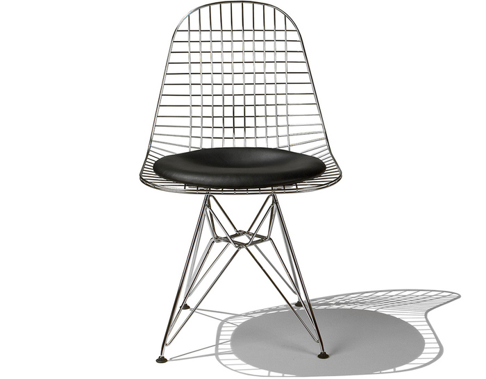 eames® wire chair with seat pad