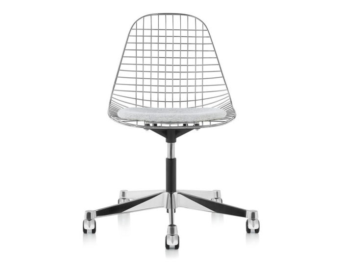 eames® wire side chair with task base
