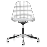 eames® wire side chair with task base  -