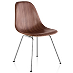 eames® molded wood side chair with 4 leg base  -