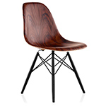 eames® molded wood side chair with dowel base  -