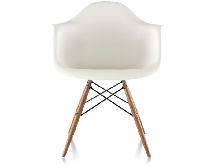 eames® molded plastic armchair with dowel base