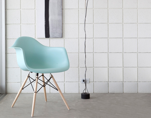 Herman Miller Eames Molded Plastic Chair eames® molded plastic armchair with dowel base - hivemodern